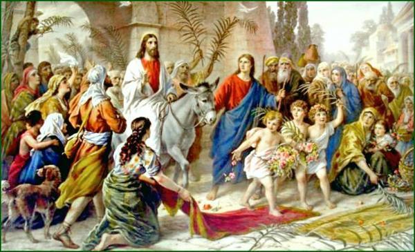 З Вербною неділею - В'їзд Ісуса Христа в Єрусалим