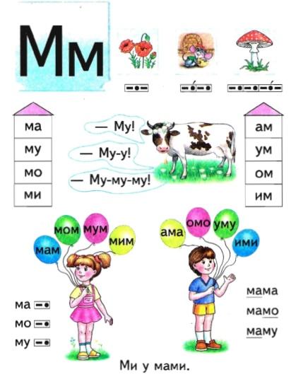 Ознайомлення дітей зі звуками і складами на прикладі Букваря. Умовні позначення звуків