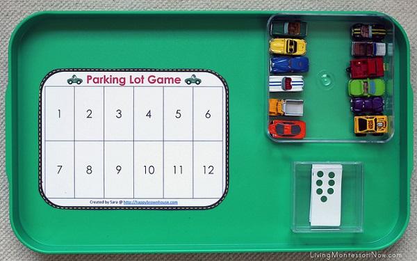 Розвиваючі монтесорі-ігри для дітей 3-6 років. Математика для хлопчиків - паркування машинок
