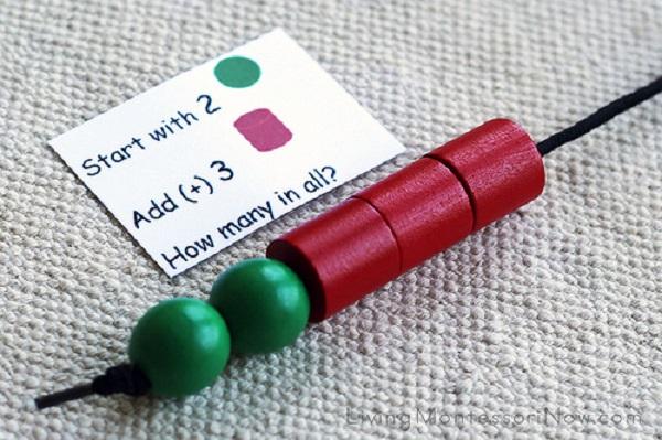 Розвиваючі монтесорі-ігри для дітей 3-6 років. Математика для дівчаток - математичне намисто