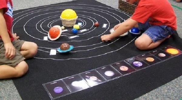 Розвиваючі монтесорі-ігри для дітей 3-6 років. Астрономія