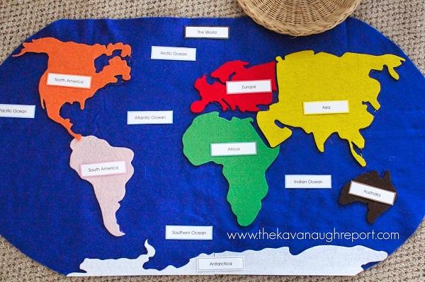 Розвиваючі монтесорі-ігри для дітей 3-6 років. Географія