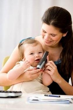 Мова дитини, телефон, мама