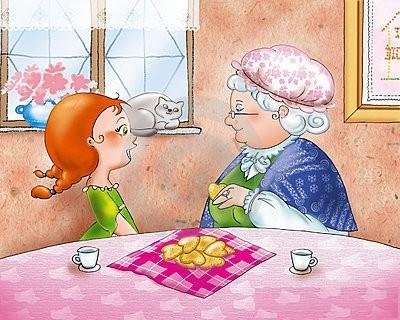 Бабуся і онука. Віршики для дітей про бабусю