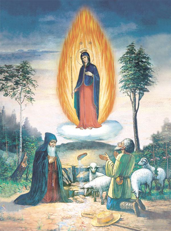 Чудесне з'явлення Божої Матері у вогняному стовпі на Почаївській горі