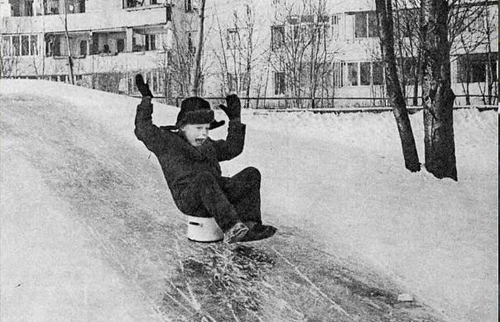 Дитинство без інтернету. На баняку по льоду з гірки